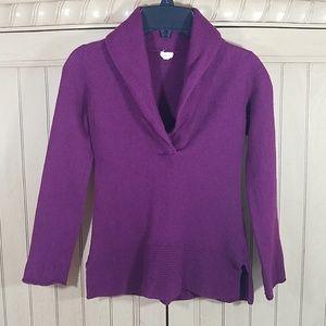 J Crew cashmere blend sweater in plum